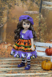 Haunted House - dress, jacket, beret, tights & shoes for Little Darling Doll or 33cm BJD