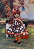 Haunted Pumpkin Patch - dress, hat, tights & shoes for Little Darling Doll or 33cm BJD