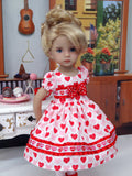 Hearts In Love - dress, tights & shoes for Little Darling Doll