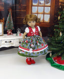 Heidelberg Holly - dirndl ensemble with tights & boots for Little Darling Doll or 33cm BJD