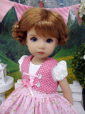 Heidelberg Rose - dirndl ensemble with tights & boots for Little Darling Doll or 33cm BJD