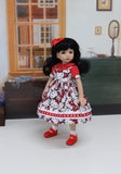 Hello Kitty Cutie - dress, blouse, socks & shoes for Little Darling Doll or 33cm BJD
