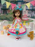 Hello Kitty Patchwork - dress, socks & shoes for Little Darling Doll or 33cm BJD