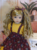 Heritage Autumn - dress, tights & shoes for Little Darling Doll or 33cm BJD