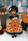 Heritage Pumpkin - dress, hat, tights & shoes for Little Darling Doll or 33cm BJD