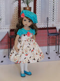 Himalayan Kitten - dress, hat, tights & shoes for Little Darling Doll