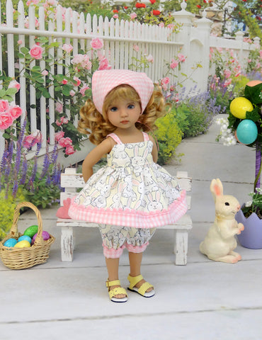 Hippity Hop - babydoll top, bloomers, kerchief & sandals for Little Darling Doll