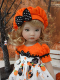 Hocus Pocus - dress, beret, socks & saddle shoes for Little Darling Doll or 33cm BJD