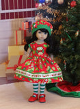 Holiday Owls - dress, hat, tights & shoes for Little Darling Doll or 33cm BJD