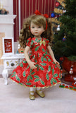 Holly Berries - dress, tights & shoes for Little Darling Doll or other 33cm BJD