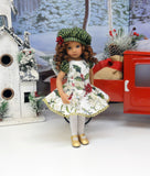 Holly Elegance - dress, beret, tights & shoes for Little Darling Doll or other 33cm BJD