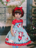 Holly Jolly - dress, tights & shoes for Little Darling Doll or 33cm BJD