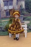 Honey Bee - dress, hat, tights & shoes for Little Darling Doll or 33cm BJD