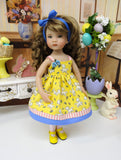 Honey Lamb - dress, tights & shoes for Little Darling Doll or 33cm BJD
