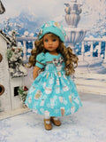 Hot Chocolate - dress, hat, tights & shoes for Little Darling Doll or other 33cm BJD