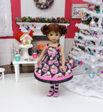Hot Cocoa Cutie - dress, tights & shoes for Little Darling Doll or 33cm BJD