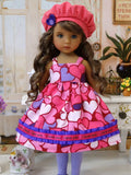 I Love You - dress, jacket, hat tights & shoes for Little Darling Doll