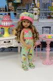 Ice Cream Cone - romper, hat & sandals for Little Darling Doll