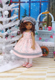 Ice Skate Princess - dress, hat, tights & shoes for Little Darling Doll or 33cm BJD