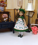 In Clover - dress, hat, tights & shoes for Little Darling Doll or 33cm BJD