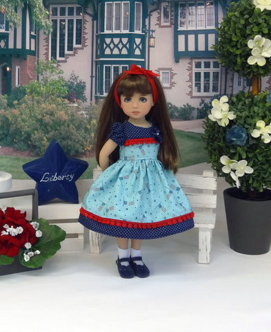 Independence Flag - dress, socks & shoes for Little Darling Doll or 33cm BJD