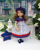 Independence Stars - dress, hat, tights & shoes for Little Darling Doll or 33cm BJD