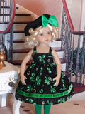 Irish Cutie - dress, beret, tights & shoes for Little Darling Doll