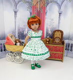 Irish Sweetie - dress, tights & shoes for Little Darling Doll