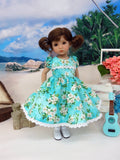 Island Gardenias - dress, socks & shoes for Little Darling Doll or other 33cm BJD