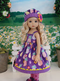Island Pineapple - dress, hat, tights & shoes for Little Darling Doll