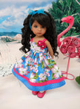 Island Plumeria - dress, tights & shoes for Little Darling Doll or 33cm BJD