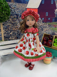 Janie Appleseed - dress, hat, tights & shoes for Little Darling Doll or 33cm BJD