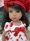Je T'aime - dress, hat, tights & shoes for Little Darling Doll or 33cm BJD