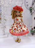 Joyous Holidays - dress, hat, tights & shoes for Little Darling Doll or 33cm BJD