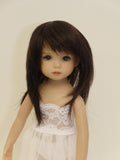 Kara Lynn Wig in Dark Brown - for Little Darling dolls