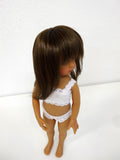 Kara Lynn Wig in Light Chestnut Brown - for Little Darling dolls