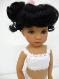 Kitty Wig in Black - for Little Darling dolls