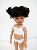 Kitty Wig in Dark Brown - for Little Darling dolls