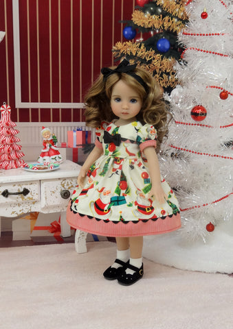 Kris Kringle - dress, socks & shoes for Little Darling Doll or 33cm BJD