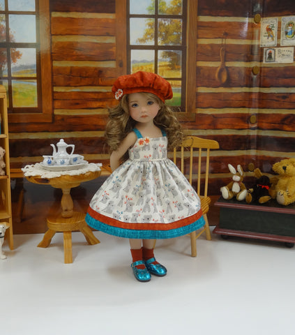 Land of Koalas - dress, hat, socks & shoes for Little Darling Doll or 33cm BJD