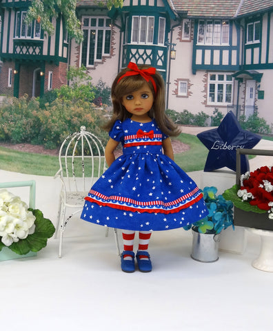 Land of Liberty - dress, tights & shoes for Little Darling Doll or 33cm BJD