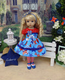 Land of the Free - dress, tights & shoes for Little Darling Doll or 33cm BJD