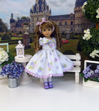 Lavender Roses - dress, tights & shoes for Little Darling Doll or other 33cm BJD