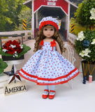 Liberty Flowers - dress, hat, tights & shoes for Little Darling Doll or other 33cm BJD