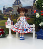 Liberty Garden - dress, socks & shoes for Little Darling Doll or 33cm BJD