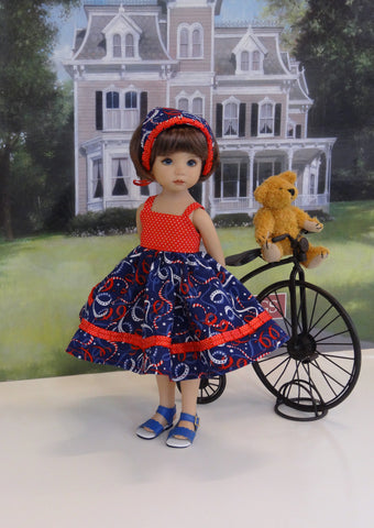 Lil' Sparkler - dress, kerchief & sandals for Little Darling Doll