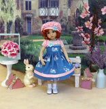 Lil' White Rabbit - dress, hat, socks & shoes for Little Darling Doll or 33cm BJD