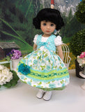 Linderhof Rose - dirndl ensemble with tights & boots for Little Darling Doll or 33cm BJD