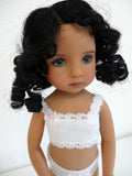 Lindsey Wig in Black - for Little Darling dolls