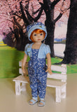 Little Blue Chick - romper, jacket, hat & sandals for Little Darling Doll